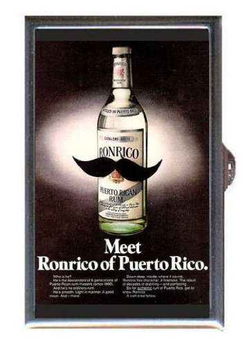 Ronrico Perto Rican Rum Retro Guitar Pick or Pill Box USA Made