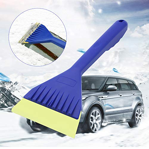 (2Pack Ice Snow Scraper Brush,Windshield Scraper Snow Removal Tools,Oxford Anti-Freeze Handle Ice Scraper,Snow Remover for Car SUV Truck)