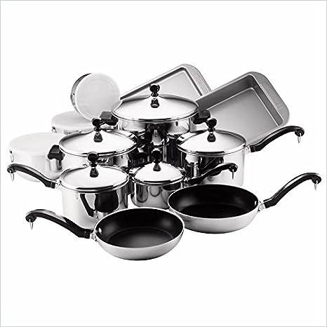 Amazon.com: Pemberly Row - Batería de cocina (17 piezas ...