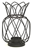 Black Metal Wire Pineapple Shaped Candle / Tea Light Holder