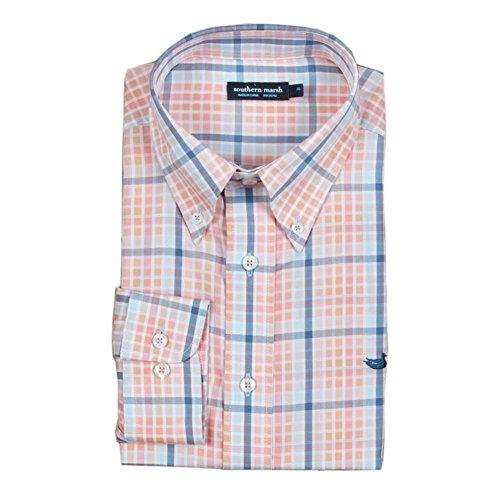 Southern Marsh Mansur Windowpane Dress Shirt (L) ()