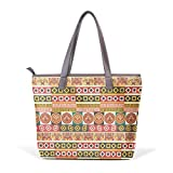 African Art Tribal Print Women's Fashion Large Shoulder Bag Handbag Tote Purse for Lady