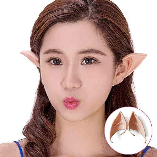 WensLTD Elf Ears Alien Fairy Hobbit Tips Pointed Elves Halloween Costume Party Cosplay (12cm, A) ()