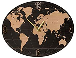 Amazon midwest cbk small oval world map wall clock home kitchen midwest cbk small oval world map wall clock gumiabroncs Image collections