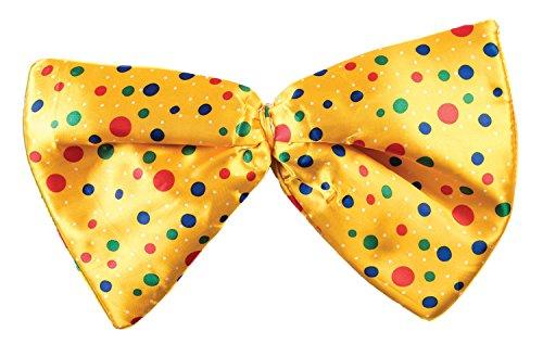 Forum Novelties Jumbo Clown Polka Dot Bow Tie Costume Accessory Yellow -