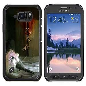 EJOOY---Cubierta de la caja de protección para la piel dura ** Samsung Galaxy S6Active Active G890A ** --Monster Zombie Pintura Scary