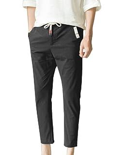4d10fd9de02854 AnyuA Herren Lange Hose Bequeme Stoffhose Chino Hose Skinny Slim Fit ...