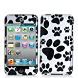 Dog Paw Black Hard Snap-on Crystal Skin Case Cover Accessory for Ipod Touch