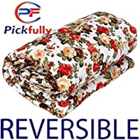 PICKFULLY Polycotton Multicolor Printed Single Bed AC Blanket Dohar for Home