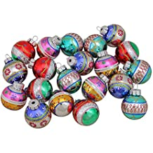 Christopher Radko 20ct Shiny Brite Multi-Color Glass Ball Christmas Ornaments 1.25""