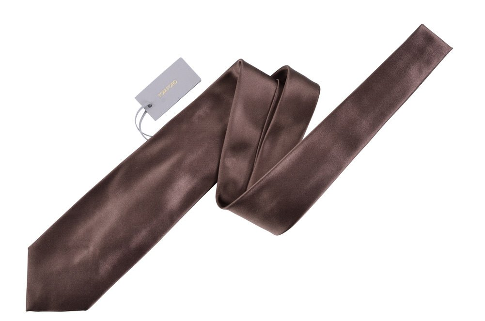 Tom Ford Brown Silk Skinny Neck Tie