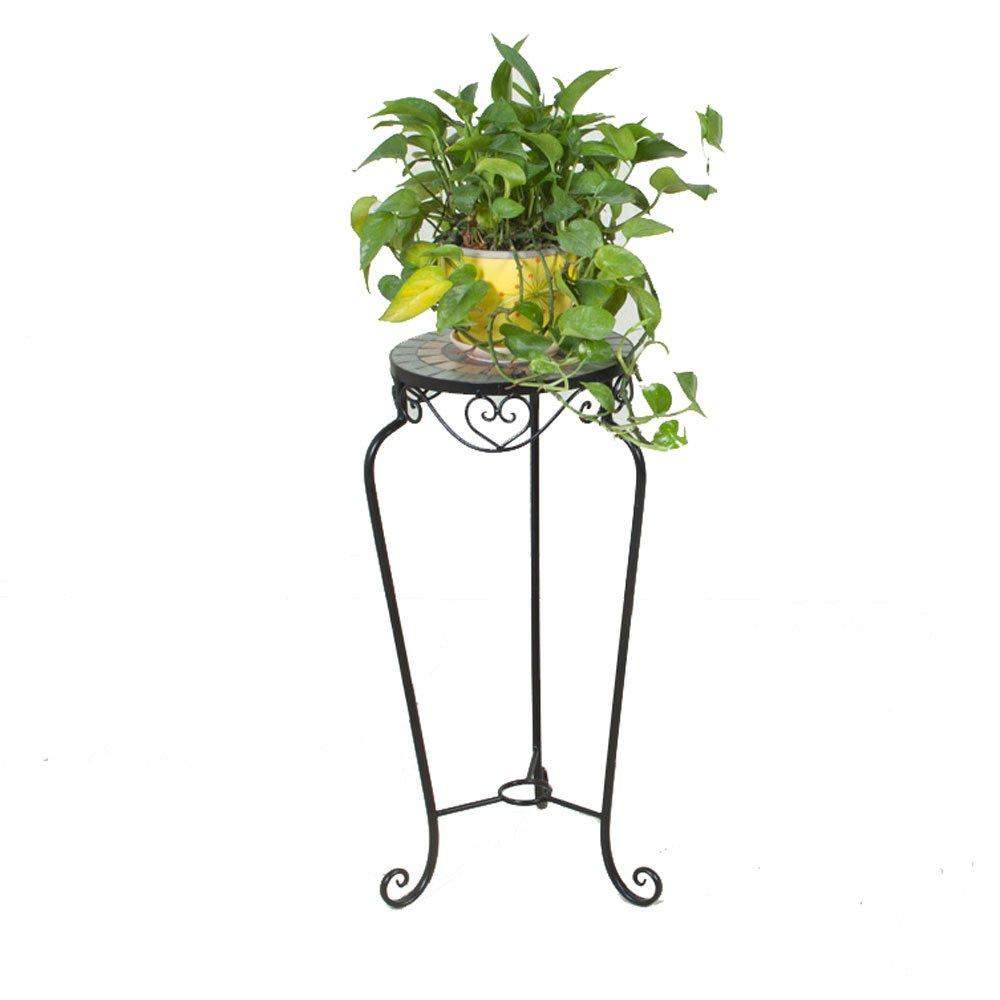 Flower Stand PHTW WNQ Ferro Nero Giardino Fiorito Scala Mosaico Patio Interno Pavimento del Salotto Rack Fiore A+ (colore   A)