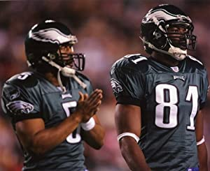 Donovan Mcnabb & Terrell Owens Philadelphia Eagles 8x10 Sports Action Photo (a)