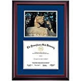 Penn State Nittany Lions Diploma Frame Navy Gray Matting Photograph