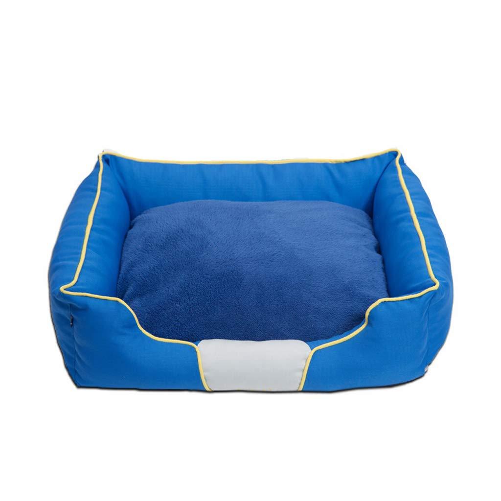S FJH Kennel winter warm removable and washable large dog pet nest bite golden dog cushion (Size   S)