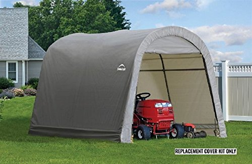 ShelterLogic Replacement Cover Kit 10x10x8 Round Gray 90538 (7.5oz Gray) - Shelterlogic Cover