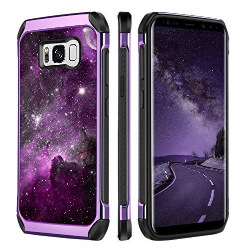 BENTOBEN Case for Samsung Galaxy S8, Case for Samsung S8, Heavy Duty Nebula Galaxy Stars Space Hybrid Soft TPU Hard PC Bumper Shockproof Full Body Protective Phone Case for Galaxy S8, Purple Nebula