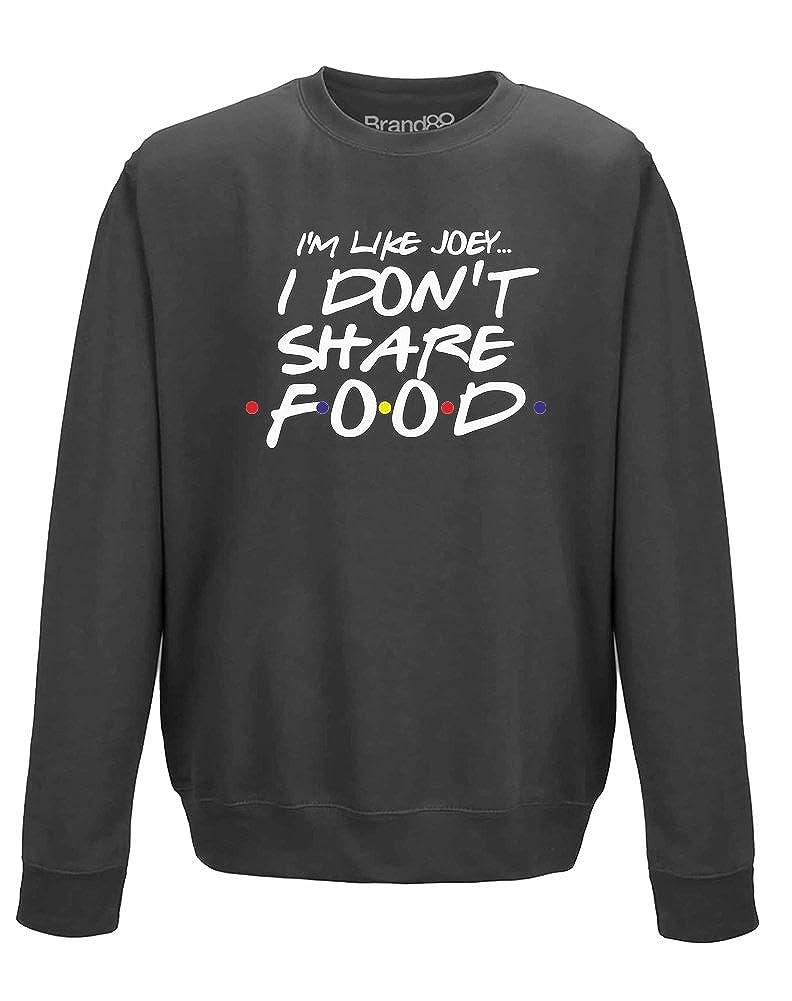 Brand88 - I Don't Share Food, Adults Printed Sweatshirt
