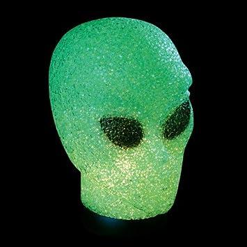 Rhode Island Novelty Green Sparkle Alien Lamp