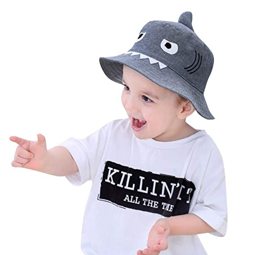 566a5defb8b VEKDONE Toddler Baby Kids Boys And Girls Hat Children Cartoon Shark Print Autumn  Cap (Dark Blue)  Clothing