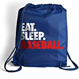 Eat. Sleep. Baseball. Cinch Sack | Baseball Bags by ChalkTalk SPORTS | Royal