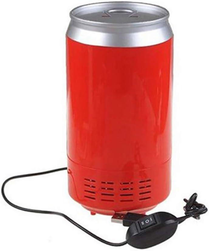 Portátil Mini refrigerador - Bebidas Cerveza Latas Enfriadoras/Calentadoras - Sobremesa USB de Mesa pequeña - Energía Baja A +