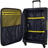 Nautica 3 Piece Luggage Set-Lightweight for Travel, Navy/Blaze Yellow, One Size