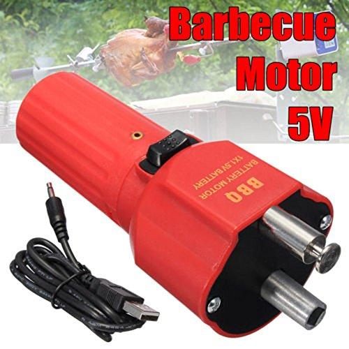 BBQ Grill Motor Barbecue Rotisserie Rotator 1.5V Battery Roast Bracket Holder UK