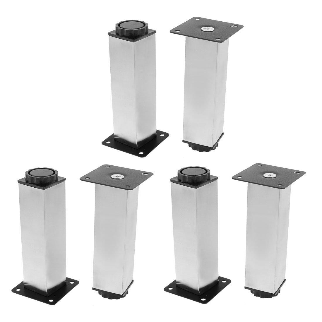 uxcell Kitchen Cabinet Support 38mm x 150mm Adjustable Plinth Leg 6pcs