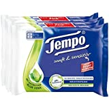 Tempo Moist Toilet Paper Soft and Sensitive Dual Refill Pack / 84 Sheets per Pack / Pack of 2