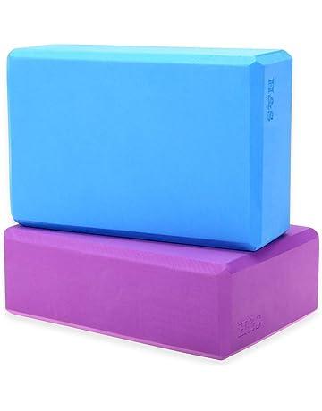 H S 2 x Yoga Block High Density EVA Foam Brick Eco Friendly Purple Blue 4c64b2541d0a