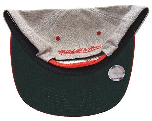 Atlanta Hawks Mitchell Ness Bar Script Snapback Cap Hat Wool Red