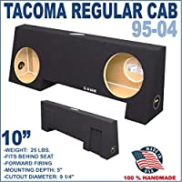 95-04 Toyota Tacoma Standar Regular Cab Truck 10 Sub Box Subwoofer Enclosure
