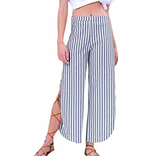 Stripe Pantalon Casual Split Yoga Automne Pantalon Printemps Femmes Gris Mode Haute Sport zahuihuiM Leggings q06HBn7w
