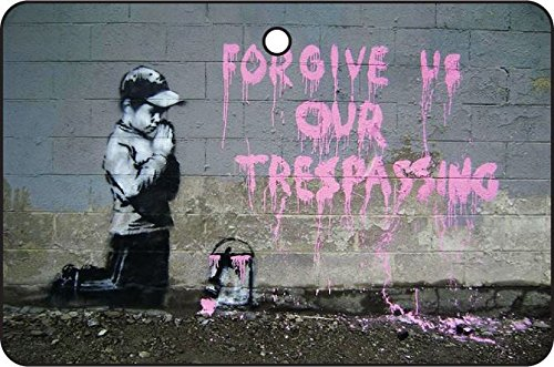 (Banksy Forgive Us Our Trespassing/Halloween Car Air)