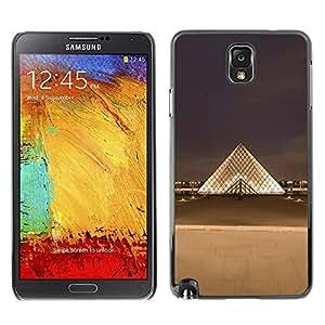 Be Good Phone Accessory // Dura Cáscara cubierta Protectora Caso Carcasa Funda de Protección para Samsung Note 3 N9000 N9002 N9005 // Paris Museum Louvre City