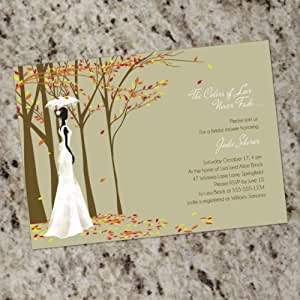 FALL IN LOVE - Custom Bridal Shower Invitations - Print Your Own