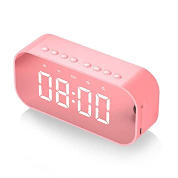 Reloj Despertador Digital, MUSSON Altavoces Bluetooth ...