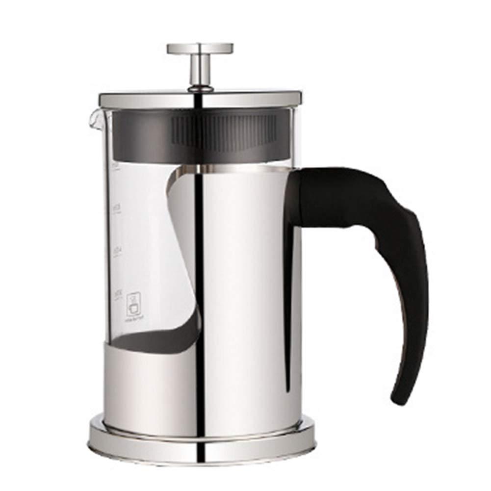 Acquisto Caffettiera Caffettiere Caffettiera Espresso Caffettiera Express Macchina per caffè Verticale Pressione della Mano del Filtro in Vetro per Uso Domestico GAOFENG (Colore : 600ml) Prezzi offerta