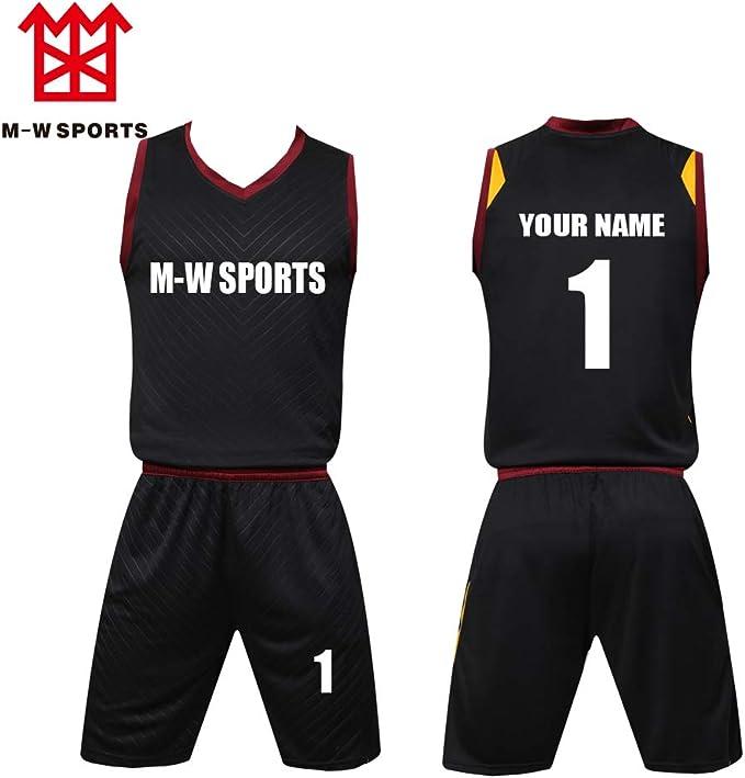 Amazon.com: Juego de camisetas de baloncesto personalizadas ...