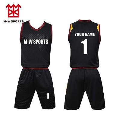 ce78baf20e1 Custom Basketball Jerseys Set with Pocket Screen Print Your Name Number  Basketball Sport t-Shirt