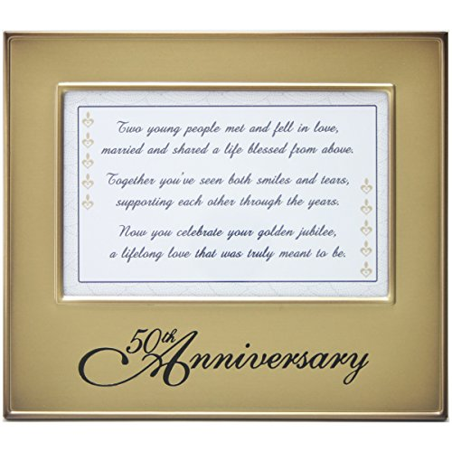 50th Anniversary Frame with Toast Poem - 50th Anniversary Gift