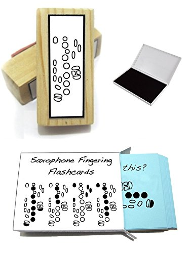 Saxophone Student Gift Pack (Flashcards, Fingering Rubber Stamp & Pad!) … ()