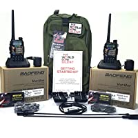 Preppers Ham Radio Deluxe Kit - (Two Radios, Accessories, and Instruction to Get Started in Amateur Radio)