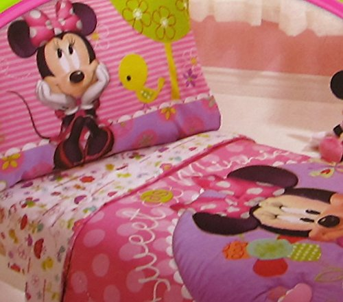 Minnie Mouse Sweet As Minnie 100% Polyester (Fitted Sheet ONLY) Size Toddler Girls Kids Bedding by Crown Crafts