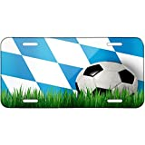 Soccer Team Flag Bayern region Germany Metal License Plate 6X12 Inch