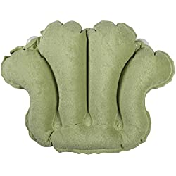 Bath Accessories Terry Bath Pillow, Celery