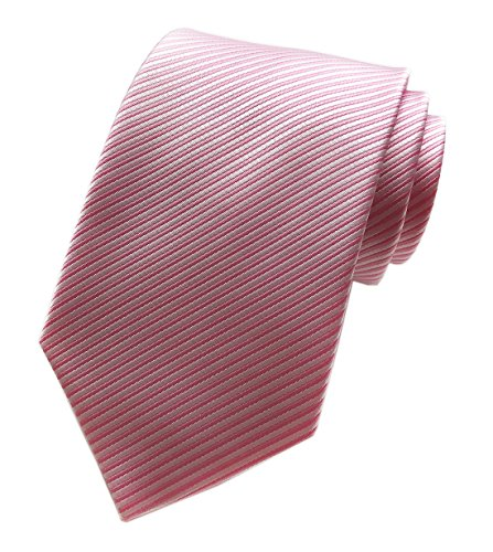 Sale Pink Ties Solid Neckties (Elfeves Men's Pink Ties Formal Solid Color Grooms Christmas Soft Dances Neckties)