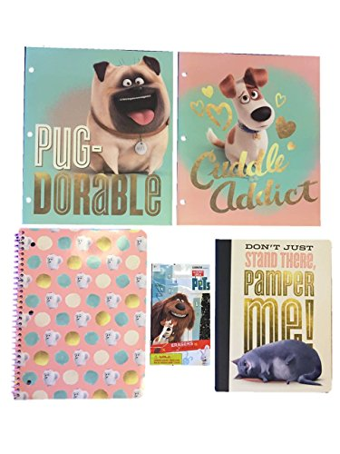 The Secret Life of Pets School Supplies Bundle With Folders, Notebooks, and Erasers