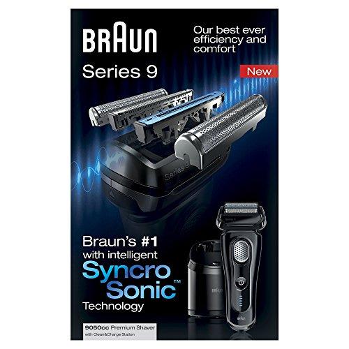Braun-Series-9-9050cc-Afeitadora-Papel-aluminio-Negro-Batera-Corriente-In-de-litio-1h-Carga-Cleaning
